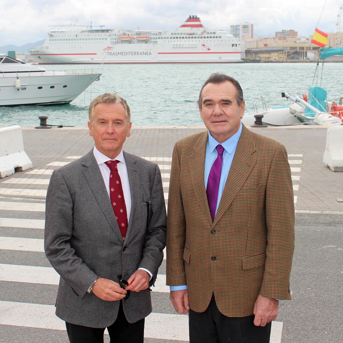 El Director General de la Marina Mercante, Rafael Rodríguez, visita el Puerto de Málaga