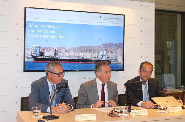 El Puerto de Málaga presenta su infraestructura para el tráfico agroalimentario a COFCO International