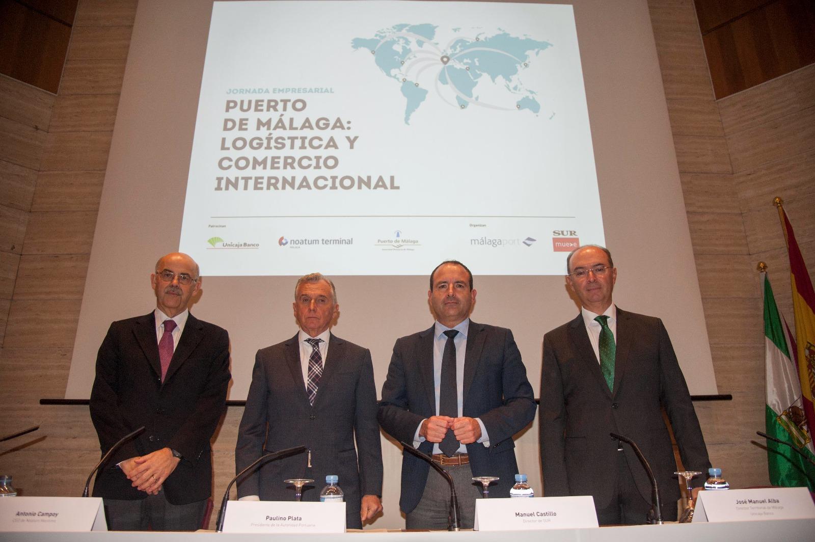 El Puerto de Málaga y Diario Sur celebran una jornada empresarial sobre logística y comercio internacional