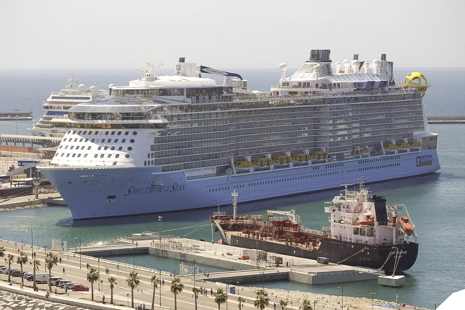 El nuevo barco de Royal Caribbean realiza su primera escala en Málaga