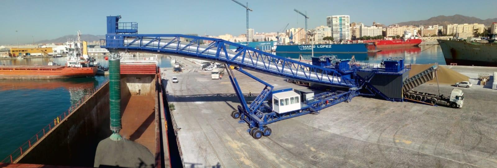 La pionera cinta ecológica transportadora de clínker de FYM-HeidelbergCement cargará hoy el primer barco