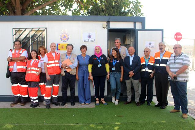 Visita institucional a las instalaciones de la Operación Paso del Estrecho en el Puerto de Málaga