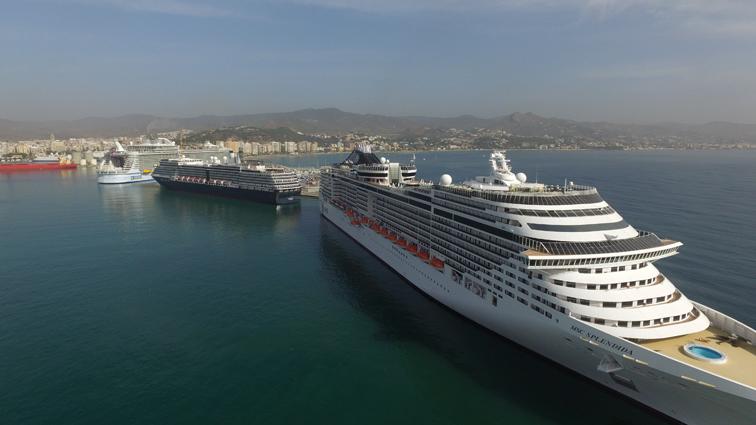 Málaga será puerto de embarque en MSC Cruceros en 2020