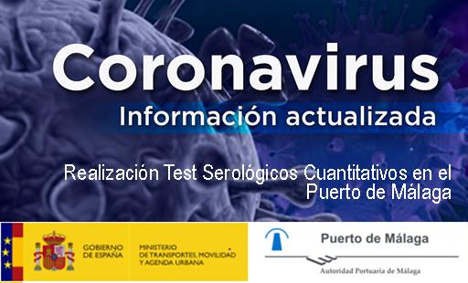 Realización test serológicos cuantitativos en el Puerto de Málaga