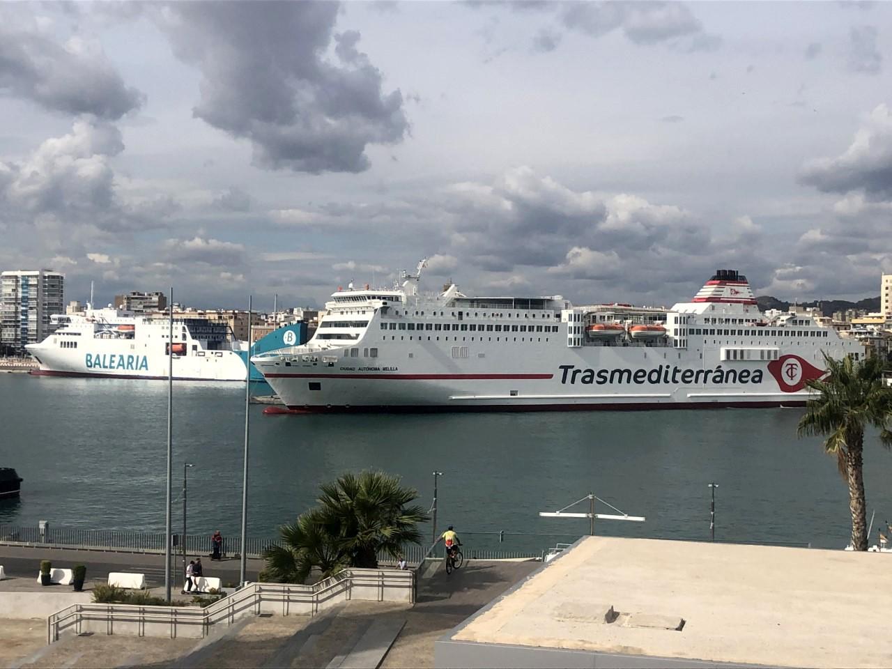 La conexión Málaga-Melilla recupera su actividad en el ecuador del verano